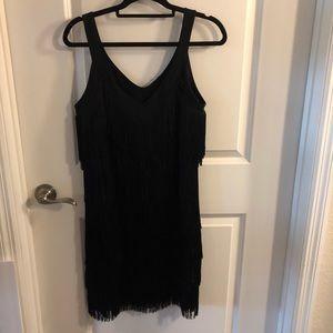 White House Black Market Medium Fringe Dress